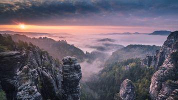 Фото бесплатно Альпы, атмосфера, горные формы рельефа