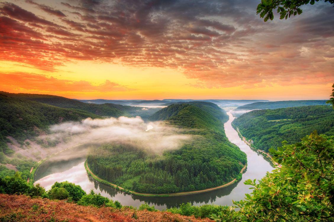 Фото бесплатно река, петля Саар, Германия - на рабочий стол