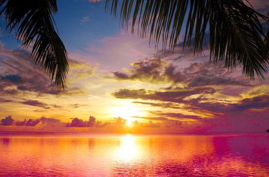 Фото море, закат в хорошем качестве