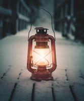 Фото бесплатно лампа, фонарь, снег