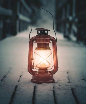 Заставки лампа, фонарь, снег