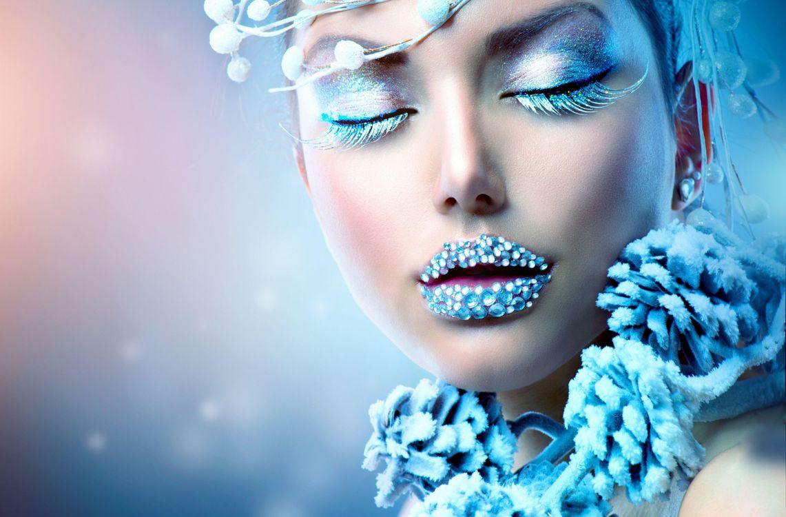 Фото бесплатно прическа, glamour, fashion, макияж, девушка, ресницы, девушки
