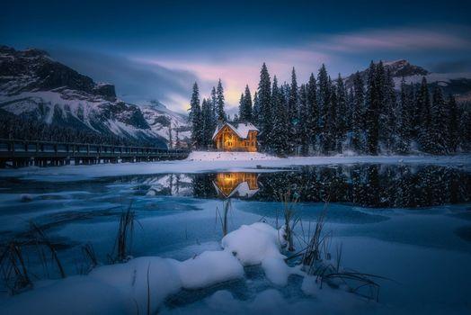 Фото бесплатно горы, мост, Canada