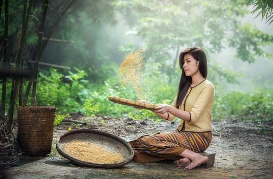 Photo free nature, woman, morning