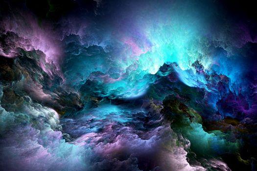 Фото бесплатно абстракция, облака, фрактал