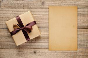 Фото бесплатно подарок, лента, коробка