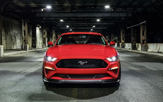 Photo free Ford Mustang GT, red, muscle car
