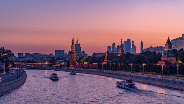 Заставки закат, Москва, река Москва