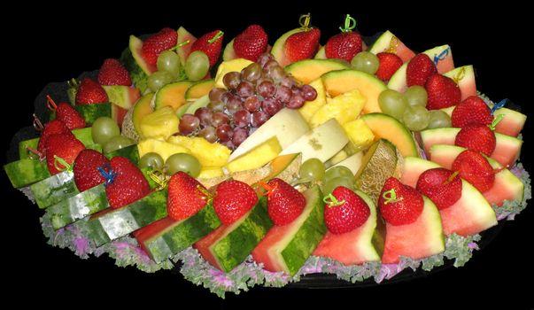 Photo free berries, watermelon, pineapple