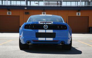 Фото бесплатно Форд Мустанг Шелби ГТС, вид сзади, синий