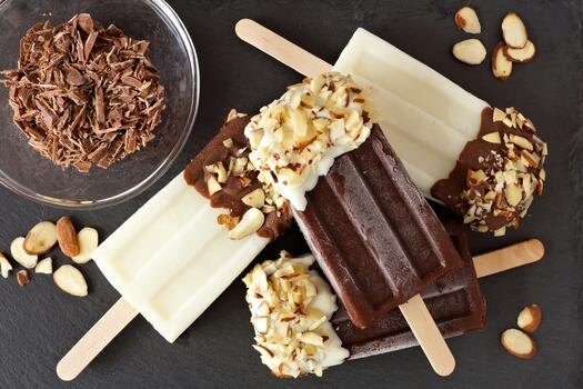 Photo free nuts, snack, wallpaper chocolate popsicle ice cream