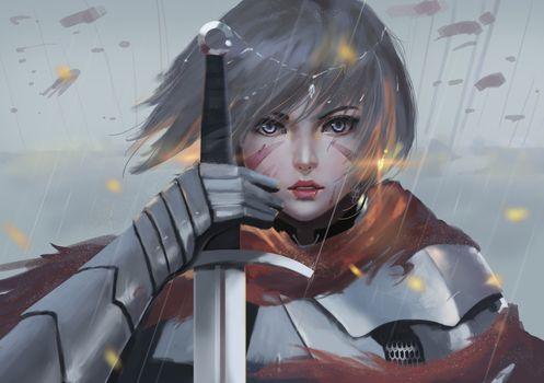 Фото бесплатно произведения искусства, цифровое искусство, Sword