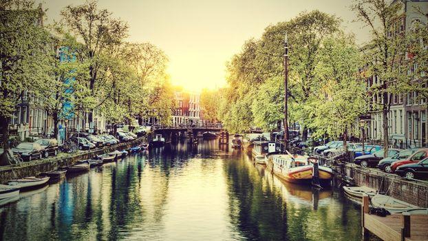Фото бесплатно река, Амстердам, водный путь