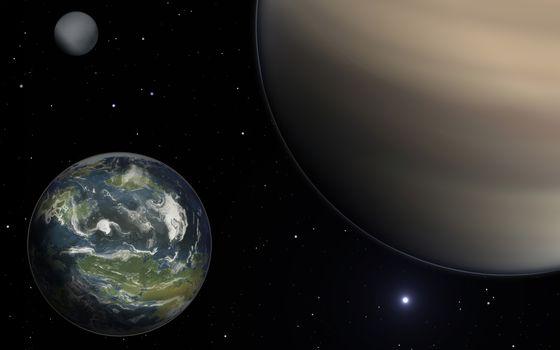 Заставки Юпитер, земля, космос
