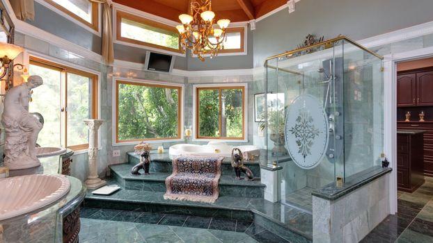 Бесплатные фото окна,ванная,джокузи,дизайн,плазма,интерьер,люстра
