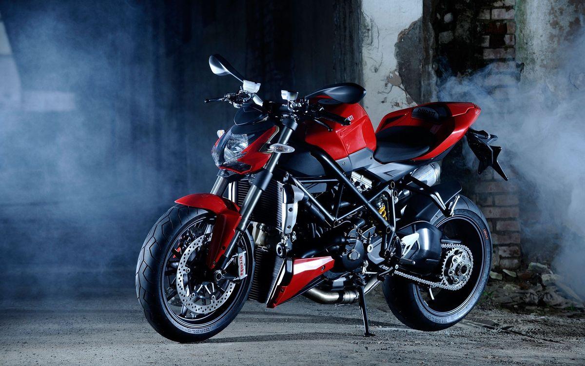 Фото бесплатно Дукати, мотоцикл, красный и черный - на рабочий стол