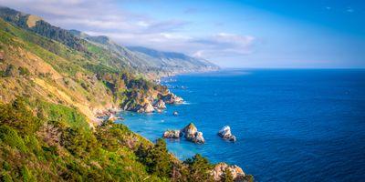 Фото бесплатно калифорнийская скала, природа сша, скалистый берег