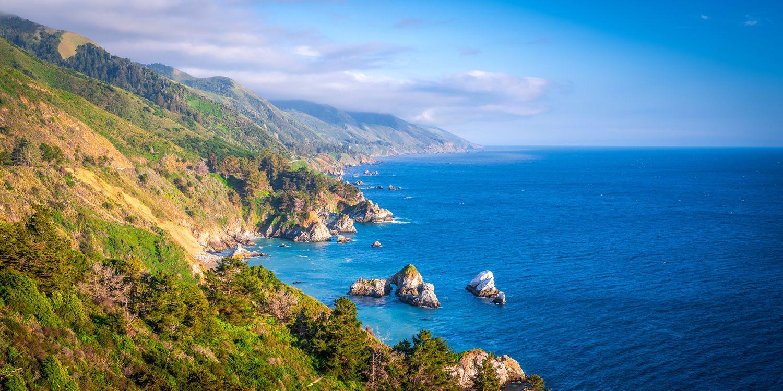 Фото калифорнийская скала природа сша скалистый берег - бесплатные картинки на Fonwall