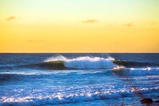 Фото бесплатно море, волны, пейзаж