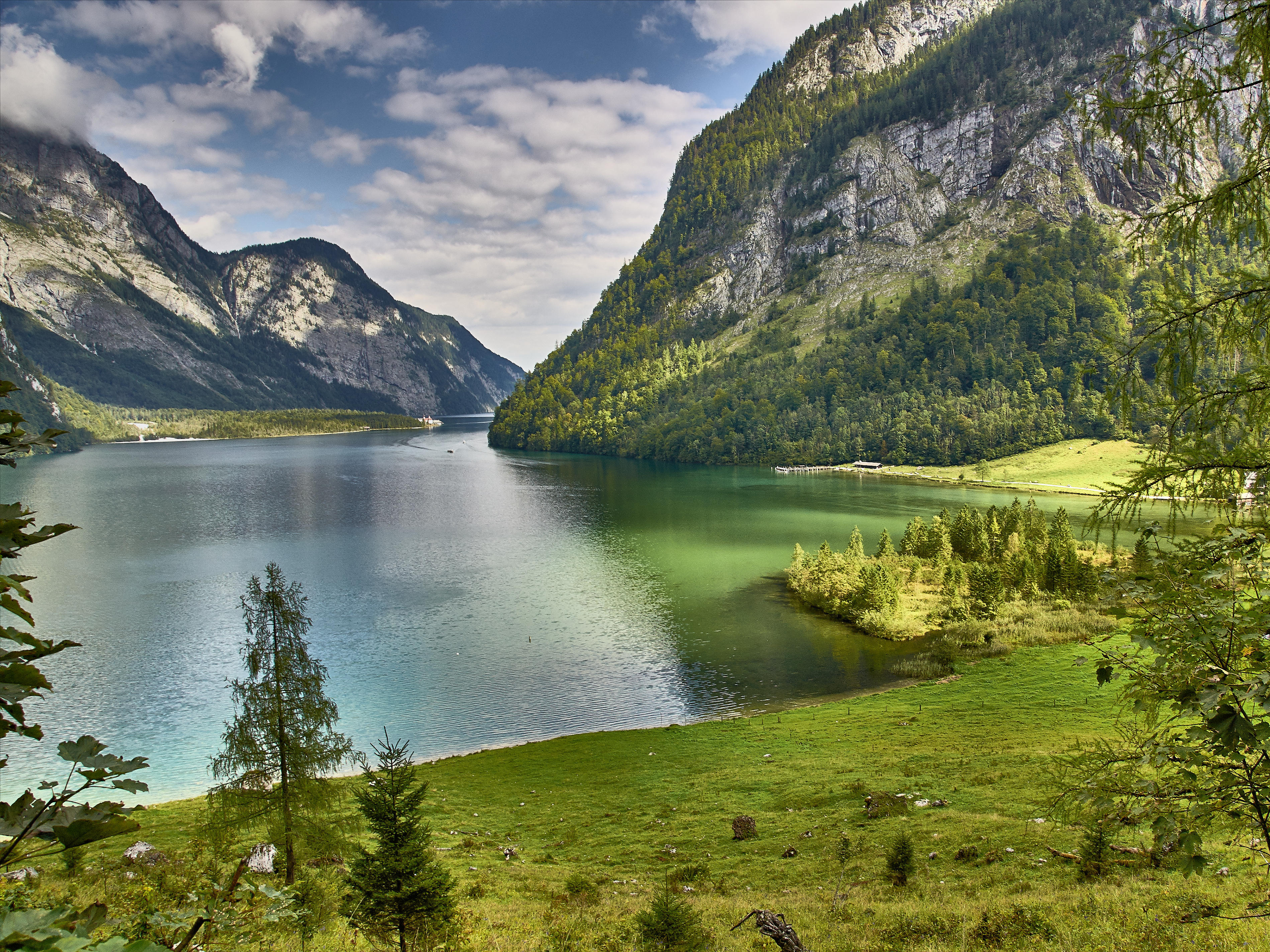 Обои Кёнигсзее, Берхтесгаден, Озеро Кёнигзее, Бавария