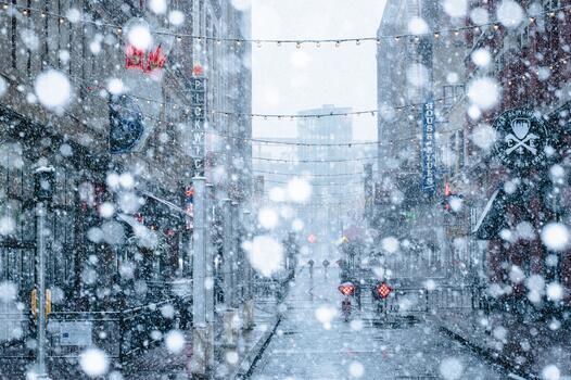 Photo free buildings, street, christmas