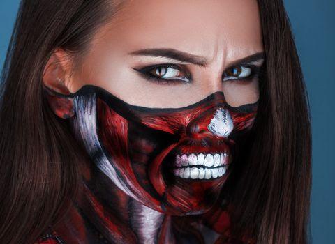 Photo free Zombie make-up, girl, make-up