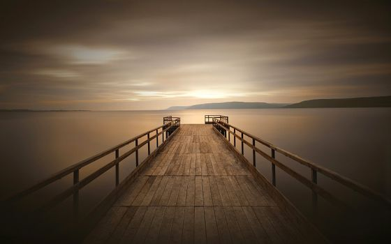 Photo free pier, sky, wooden surface