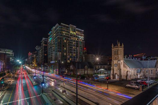 Заставки серия ночных городов, домов, в