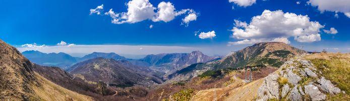 Бесплатные фото Албания,гора,Панорама,небо,горы,холмы,облака