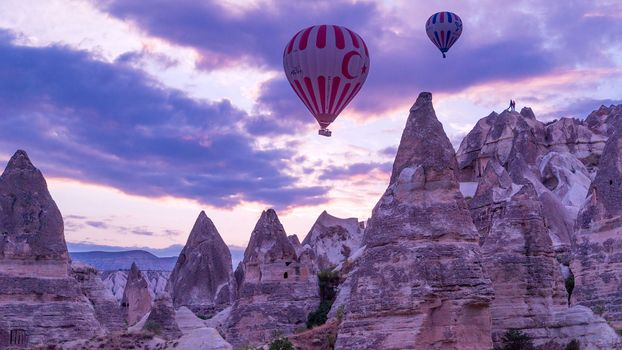 Photo free balloons, sunset, landscape