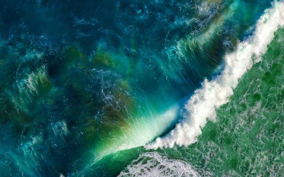 Фото бесплатно волны, вид сверху, океан