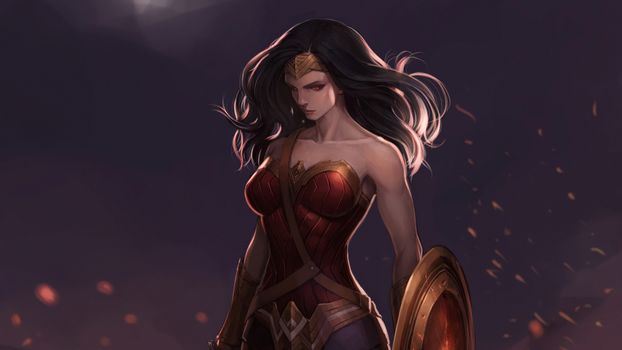 Заставки Artstation, Digital Art, Wonder Woman