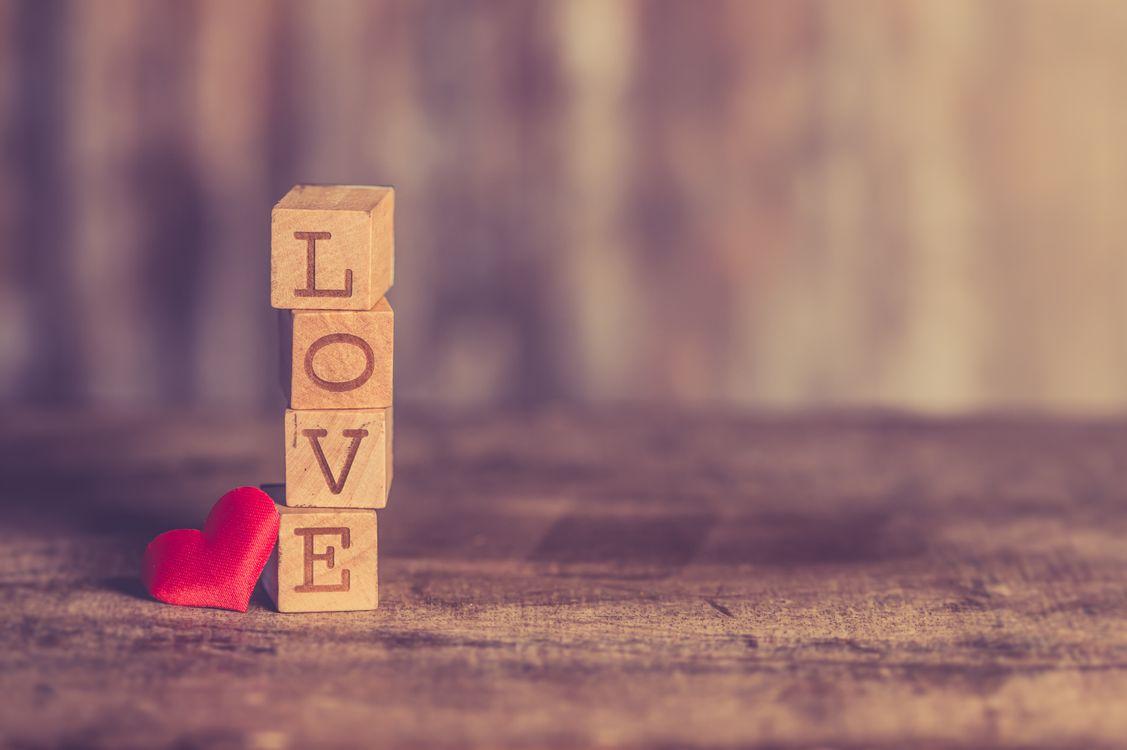 Фото бесплатно Кубики, любовь, сердце, cubes, love, heart, настроения