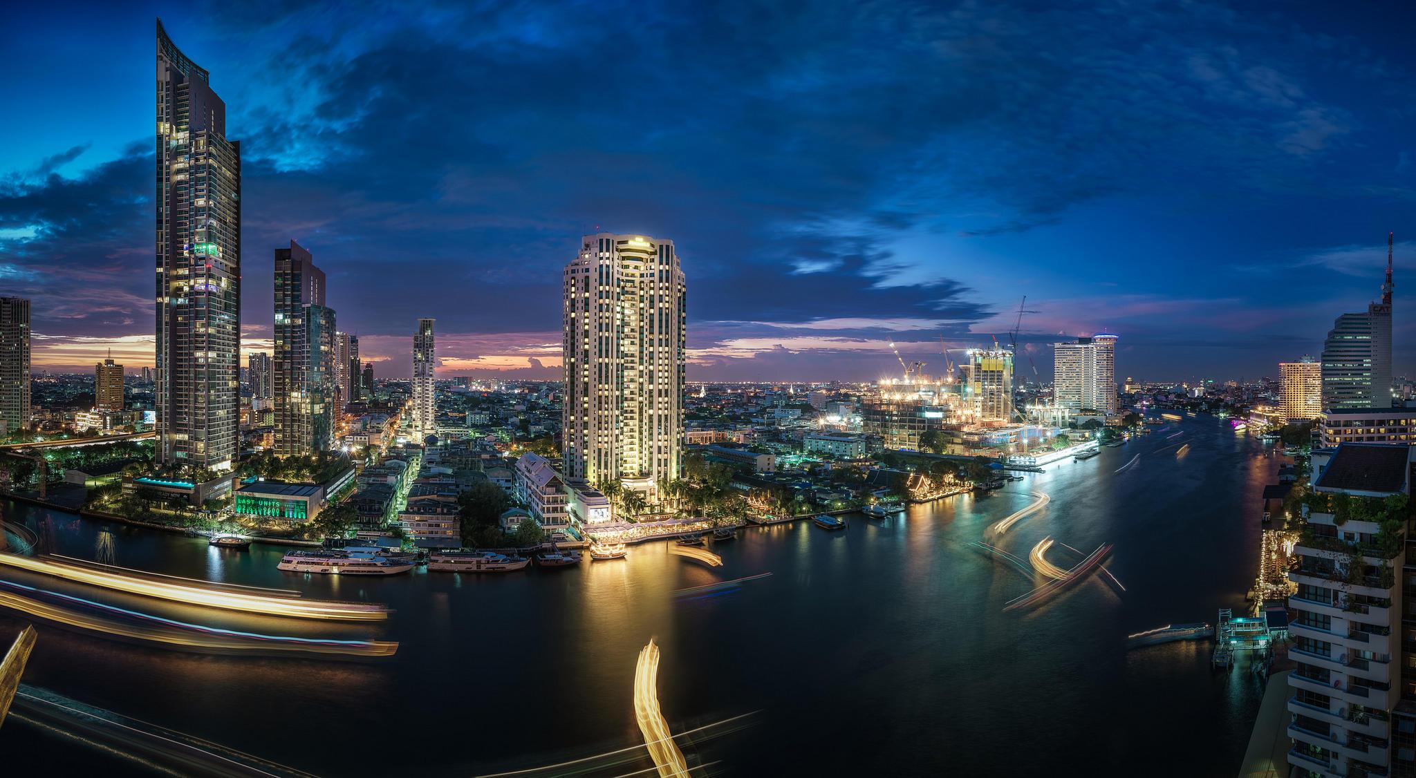Обои Река Чао Прайя, Таиланд, Бангкок