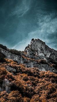 Заставки скалы, гора, вершина