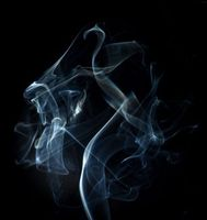 Photo free smoke, lines, dark background