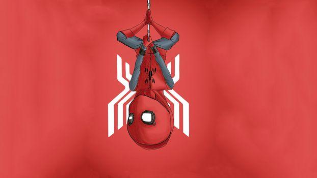 Фото бесплатно минималист, девиантант, человек-паук