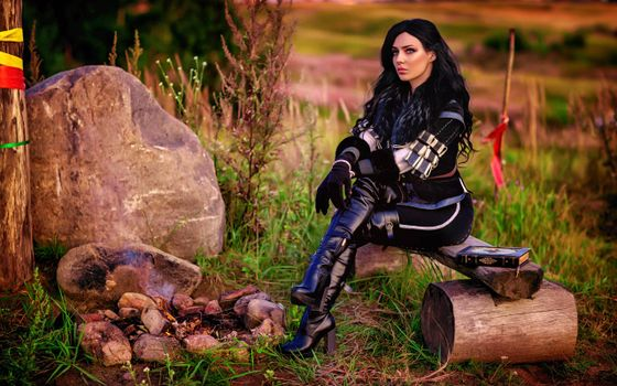 Photo free thight clothes, yennefer of vengerberg, cosplay