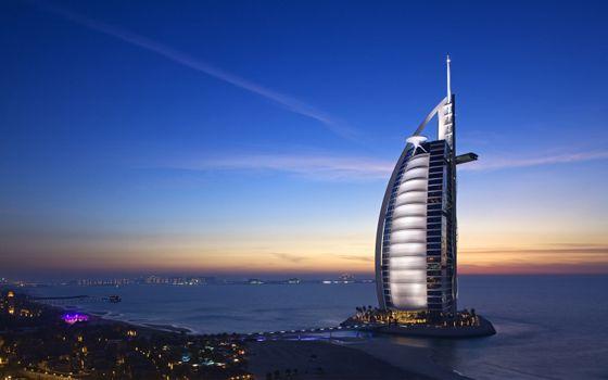 Фото бесплатно Бурдж Аль-Араб, Дубай, небоскреб