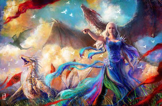 Фото бесплатно игра престолов, ТВ шоу, художник