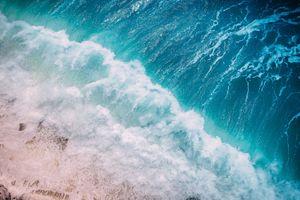 Фото бесплатно вид сверху, берег, пена
