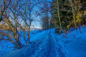 Фото бесплатно зима, сугробы, снег