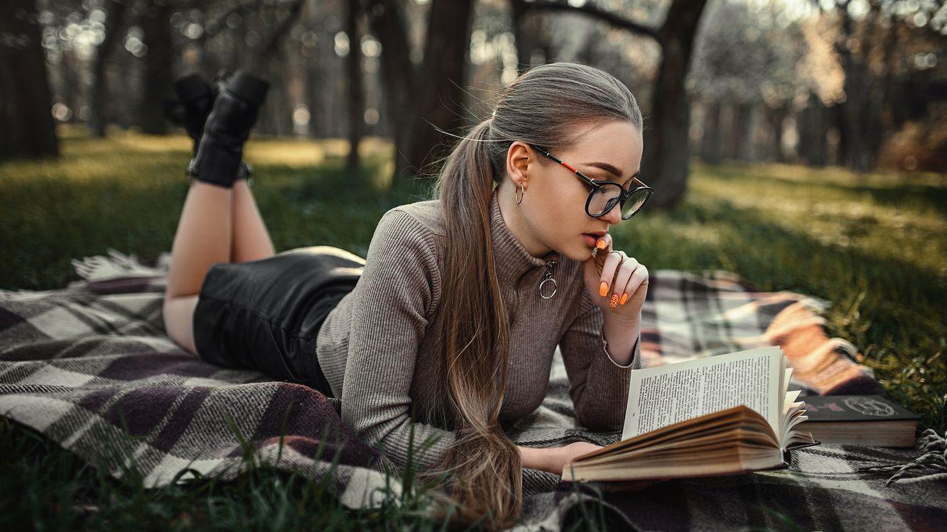 Фото бесплатно Dasha, красивая девушка, парк - на рабочий стол