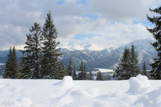 Фото бесплатно горы, снег, татровые горы