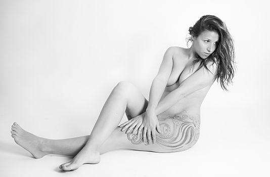 Photo free black and white, woman, hair