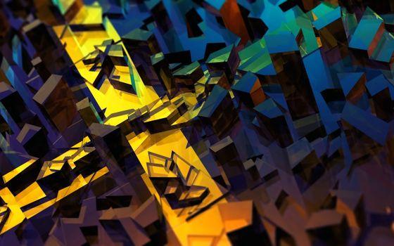 Фото бесплатно 3d, абстракция, произведение искусства