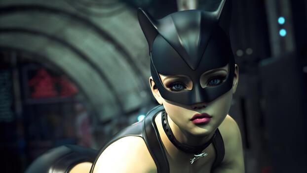 Фото бесплатно рендеринг, женщина-кошка, супергерои