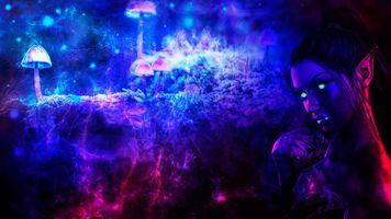 Фото бесплатно фантастика, эльф, визуализация