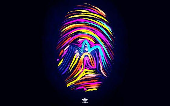 Photo free Adidas, artwork, logo
