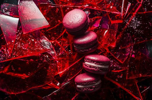 Photo free food, red, broken glass